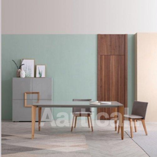 Zenith dining table, Finn Chair, Antonio buffet