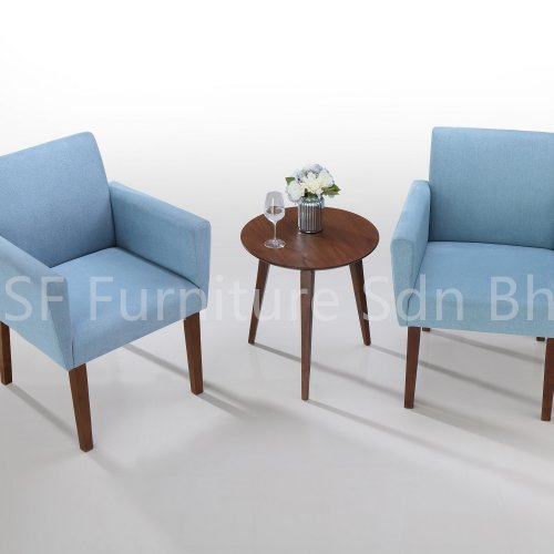 ET850 Shaka End Table & LC850 Shaka Lounge Chair
