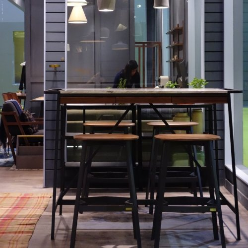 Camper Table & Carbon Bar Stool