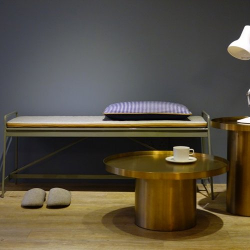 Rivet Coffee Table & Rivet End Table