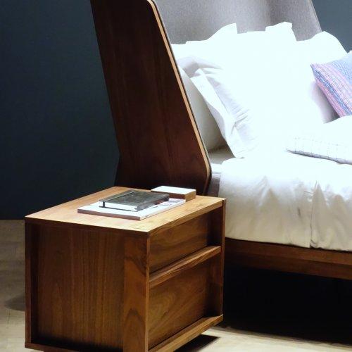 Blk Bedside Table