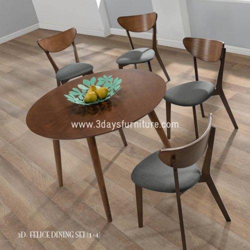 3D-Felice Dining Set(1+4)