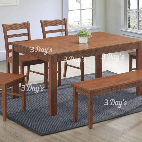 3D-Eliana Dining Set (1+4 Chair + Bench)