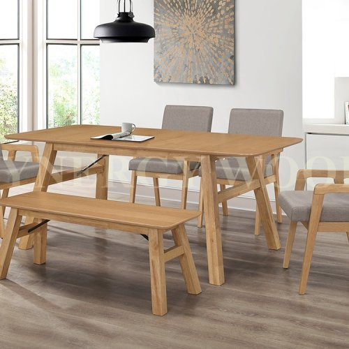 LAUREL EXTENSION TABLE + DINING CHAIR + BENCH