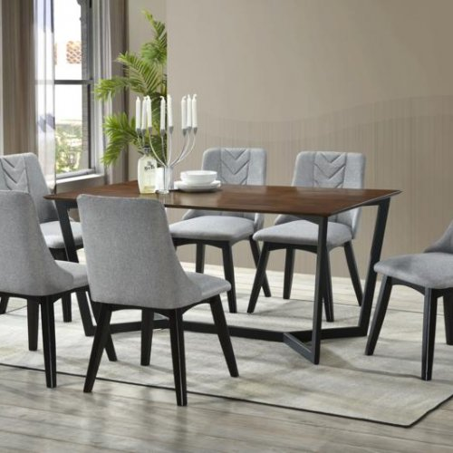 ASHLEY TABLE + MAPLE CHAIR 1+6 DINING SET