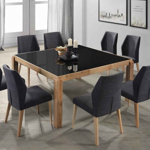G-SQUARE TABLE + X-TWIN CHAIR 1+8 DINING SET