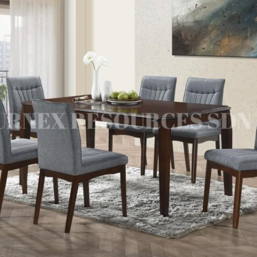 RUBY TABLE + TIFFANY CHAIR 1+6 DINING SET