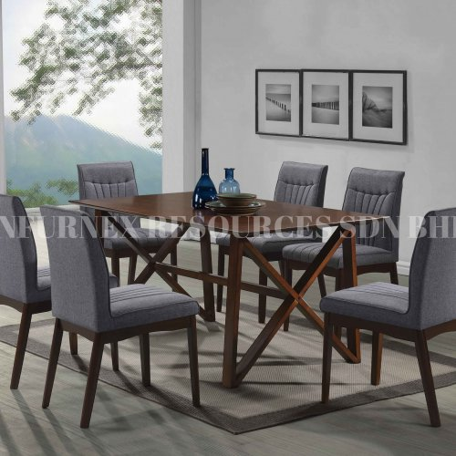 ANTON TABLE + TIFFANY CHAIR 1+6 DINING SET