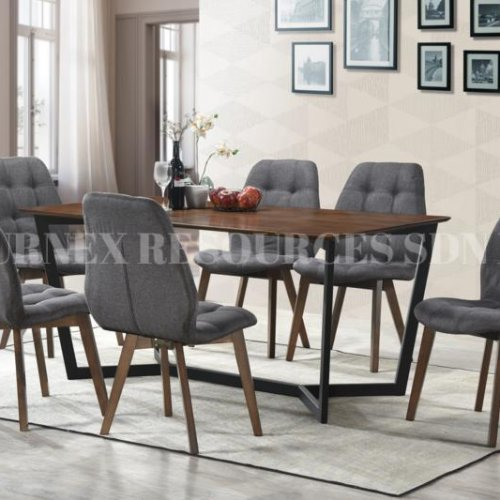 ASHLEY TABLE + VENUS CHAIR 1+6 DINING SET