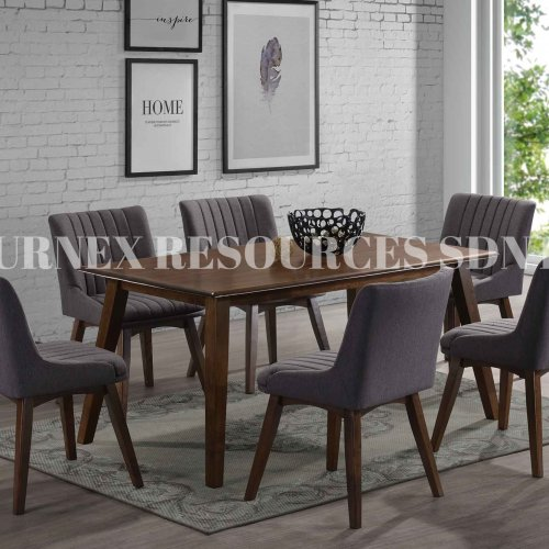 HARMONY TABLE + NICOLE CHAIR 1+6 DINING SET
