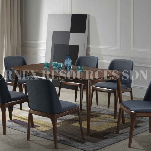 CHARLOTTE TABLE + GENESIS CHAIR 1+6 DINING SET