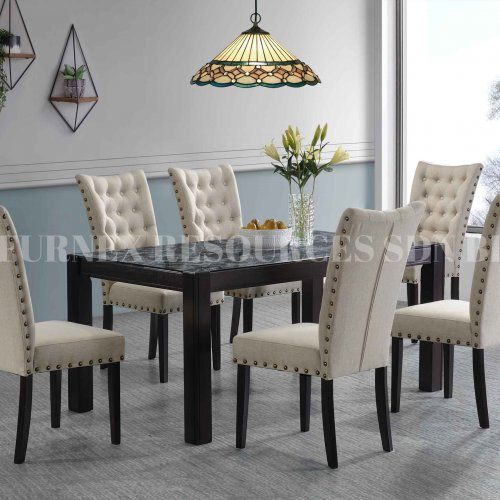 CLASSY TABLE + PRISCILIA CHAIR 1+6 DINING SET