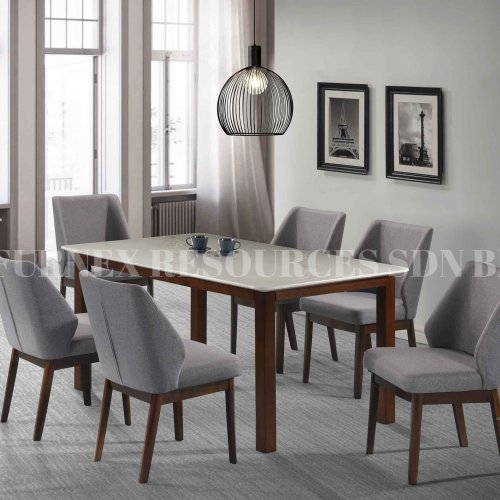 PEARL TABLE + CHLOE CHAIR 1+6 DINING SET