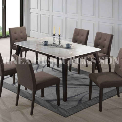PURE TABLE + CAROL CHAIR 1+6 DINING SET