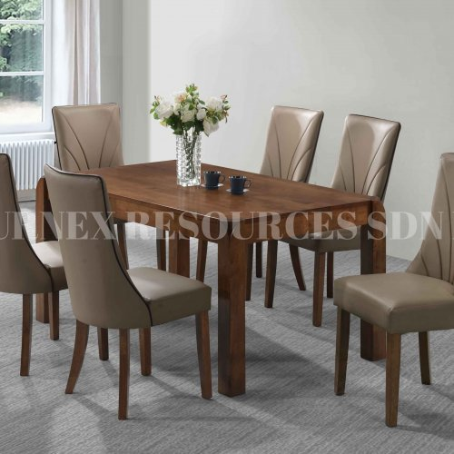 EMMA TABLE + MALUKA CHAIR 1+6 DINING SET