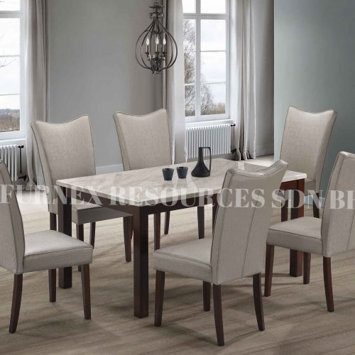 SKY TABLE + TRIFIA CHAIR 1+6 DINING SET