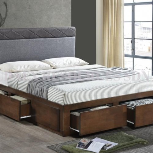HELENA QUEEN BED WITH 6 DRAWERS